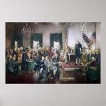 Firma de la constitución de Howard C. Christy Poster