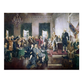 Firma de la constitución de Howard C. Christy Tarjeta Postal
