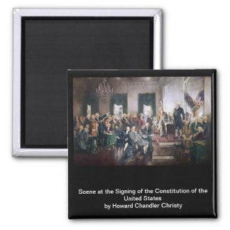 Firma de la constitución de los E.E.U.U. de Christ Imán Cuadrado