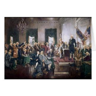 Firma de la constitución de los E.E.U.U. de Christ Felicitación