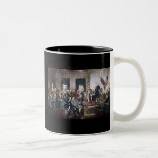 Firma de la constitución de los E.E.U.U. de Christ Taza De Café