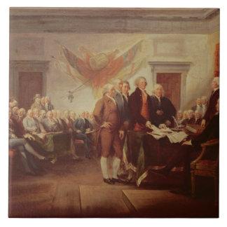 Firma de la Declaración de Independencia, 4to Azulejo Cuadrado Grande