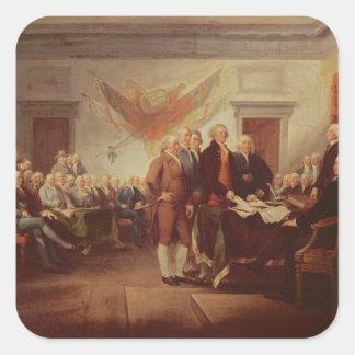 Firma de la Declaración de Independencia, 4to Pegatina Cuadrada