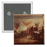 Firma de la Declaración de Independencia, 4to Pin Cuadrado