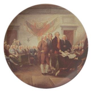 Firma de la Declaración de Independencia, 4to Plato Para Fiesta