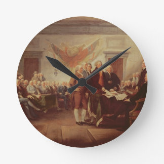 Firma de la Declaración de Independencia, 4to Reloj Redondo Mediano