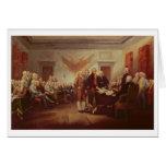 Firma de la Declaración de Independencia, 4to Tarjeta De Felicitación