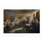 Firma de la Declaración de Independencia, el 4 de Postal