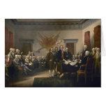 Firma de la Declaración de Independencia, el 4 de  Tarjeta De Felicitación