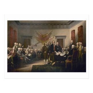 Firma de la Declaración de Independencia, el 4 de  Tarjeta Postal