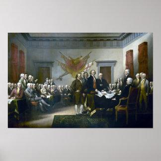 Firma de la Declaración de Independencia Póster