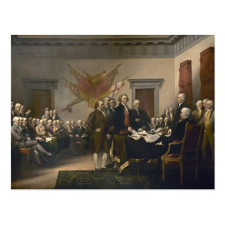 Firma de la Declaración de Independencia Tarjeta Postal