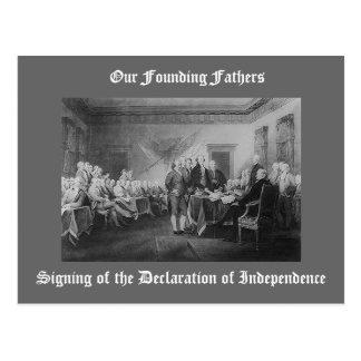 Firma de la Declaración de Independencia Tarjetas Postales