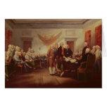 Firma de la Declaración de Independencia Tarjetón
