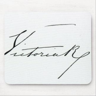 Firma de la reina Victoria pluma y tinta en el pa Alfombrillas De Raton