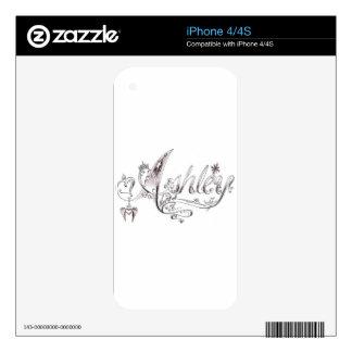Firma de lujo de Ashley Skin Para El iPhone 4