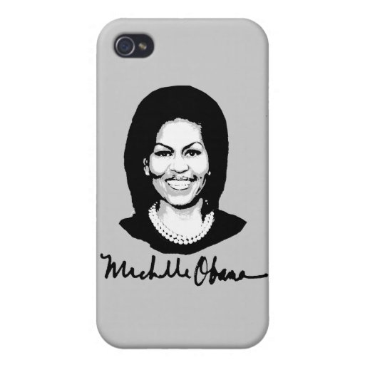FIRMA DE MICHELLE OBAMA - .PNG iPhone 4 PROTECTOR