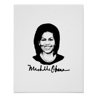 FIRMA DE MICHELLE OBAMA - .PNG PÓSTER