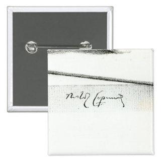 Firma de Nicolás Copérnico Pin Cuadrada 5 Cm