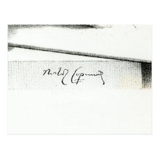Firma de Nicolás Copérnico Postal