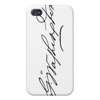 Firma de presidente George Washington de los E.E.U iPhone 4 Fundas