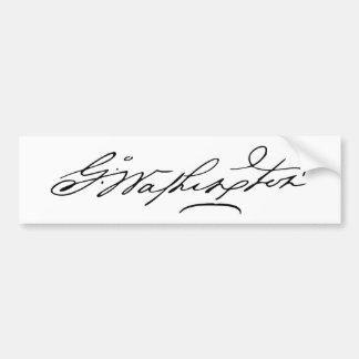 Firma de presidente George Washington de los E.E.U Pegatina Para Auto