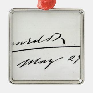 Firma de rey Edward VII, el 29 de mayo de 1906 Adorno Navideño Cuadrado De Metal