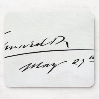Firma de rey Edward VII, el 29 de mayo de 1906 Alfombrillas De Ratón