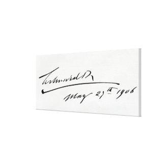 Firma de rey Edward VII, el 29 de mayo de 1906 Lona Estirada Galerias