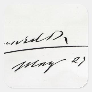 Firma de rey Edward VII, el 29 de mayo de 1906 Pegatina Cuadrada