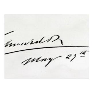 Firma de rey Edward VII, el 29 de mayo de 1906 Postales