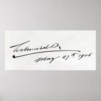 Firma de rey Edward VII, el 29 de mayo de 1906 Póster