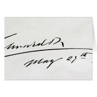 Firma de rey Edward VII, el 29 de mayo de 1906 Tarjeta De Felicitación
