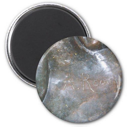 Firma de Rodin Imán Redondo 5 Cm