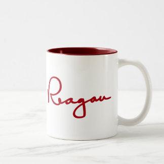 Firma de Ronald Reagan Tazas