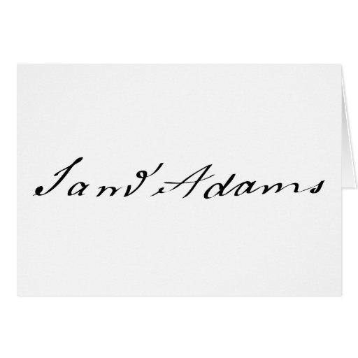 Firma de Sam Adams Tarjetas