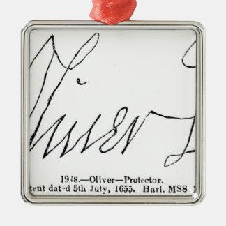 Firma de señor Protector de Oliver Cromwell Ornamentos De Reyes