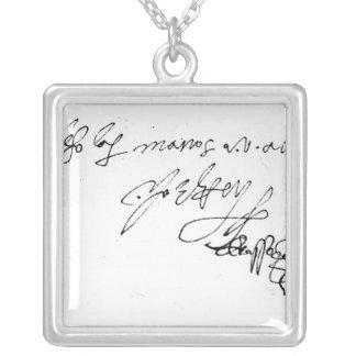 Firma de señora Jane Grey Colgante Cuadrado