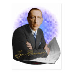Firma de Stravinsky Postales
