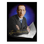 Firma de Stravinsky Tarjetas Postales