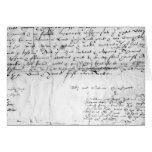 Firma de William Shakespeare, 1616 Felicitacion
