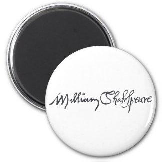 Firma de William Shakespeare Imán De Nevera