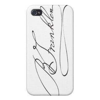 Firma del fundador Benjamin Franklin iPhone 4 Funda