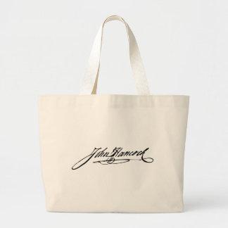Firma del fundador Juan Hancock Bolsa