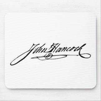 Firma del fundador Juan Hancock Tapetes De Ratón