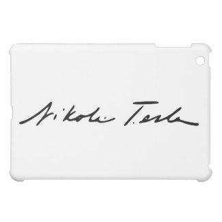 Firma del genio Nikola Tesla de la electricidad