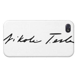 Firma del genio Nikola Tesla de la electricidad iPhone 4/4S Carcasa