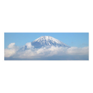 Firma del monte Fuji Geocache/tarjeta de visita