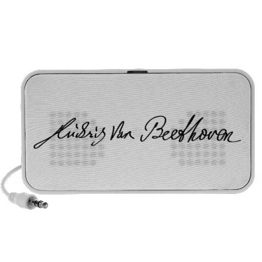 Firma del músico Ludwig van Beethoven Notebook Altavoces