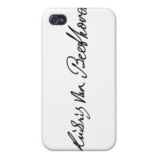 Firma del músico Ludwig van Beethoven iPhone 4 Funda